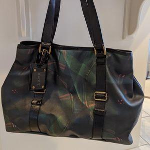 L.A.M.B Green Plaid Shoulder Bag